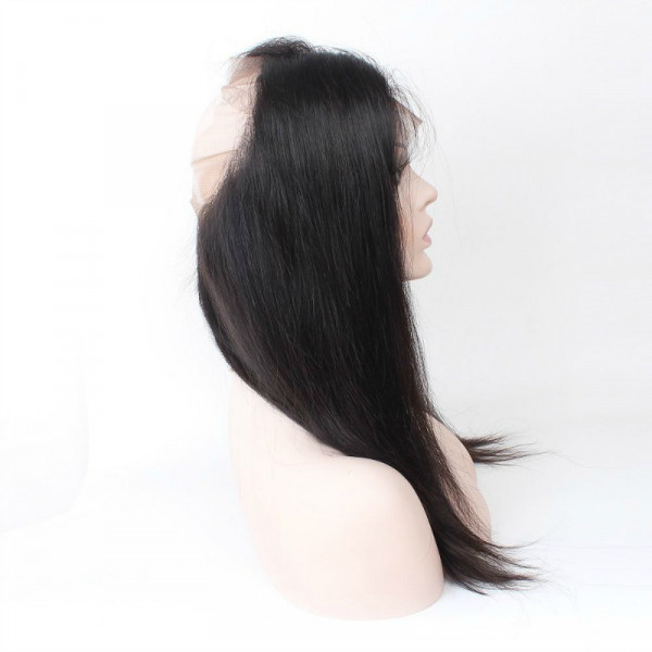 360 silky straight frontal